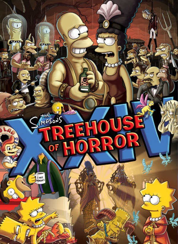 The Simpsons Treehouse of Horror XXIV    Opens with a del Toro BangXxiv